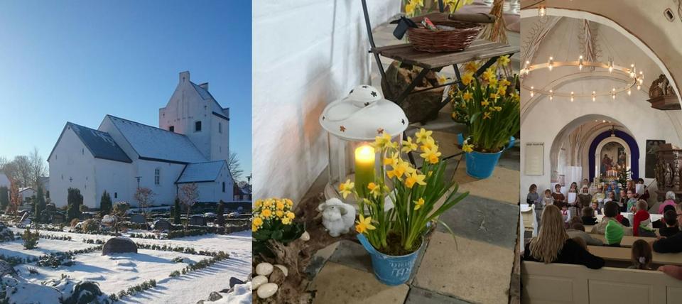 Aale Kirke sne og påske